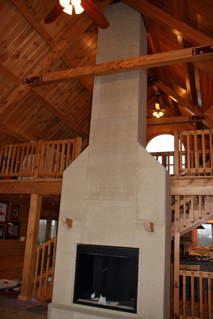 logwood farms building of our fireplace